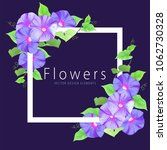 floral frame with morning glory ... | Shutterstock .eps vector #1062730328