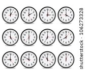 clock that show every hour... | Shutterstock .eps vector #106273328