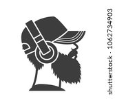 bearded man in a cap and... | Shutterstock .eps vector #1062734903
