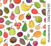 colorful seamless pattern with... | Shutterstock .eps vector #1062736190