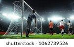 soccer game moment  on... | Shutterstock . vector #1062739526