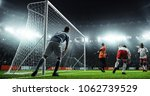 soccer game moment  on... | Shutterstock . vector #1062739529