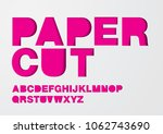 paper cut typography design... | Shutterstock .eps vector #1062743690