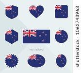 new zealand flag. national flag ... | Shutterstock .eps vector #1062743963