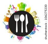 kitchen background | Shutterstock .eps vector #106275230