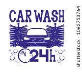 car wash sign on a white... | Shutterstock .eps vector #1062753764