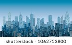 white windows abstract city... | Shutterstock .eps vector #1062753800