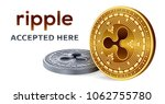ripple. accepted sign emblem.... | Shutterstock .eps vector #1062755780