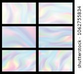 holographic gradient mesh set... | Shutterstock .eps vector #1062755834