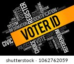 voter id word cloud collage  ... | Shutterstock .eps vector #1062762059