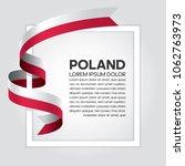 Stock vector poland flag background 1062763973