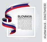slovakia flag background | Shutterstock .eps vector #1062764030