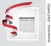 singapore flag background | Shutterstock .eps vector #1062764033
