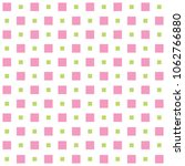 pink  green squaers seamless...   Shutterstock .eps vector #1062766880