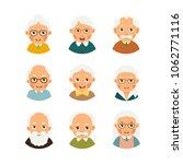 set avatars older people. kit... | Shutterstock .eps vector #1062771116