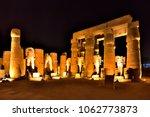 the temple of karnak was built...   Shutterstock . vector #1062773873