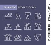 business people icons set... | Shutterstock . vector #1062776849