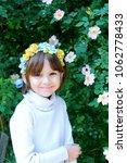 beautiful little girl is... | Shutterstock . vector #1062778433