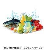 natural fresh organic food | Shutterstock .eps vector #1062779438