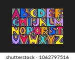 vector handwritten uppercase... | Shutterstock .eps vector #1062797516