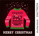 ugly christmas party sweater | Shutterstock .eps vector #1062798254