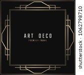 vector card. art deco style.... | Shutterstock .eps vector #1062798710