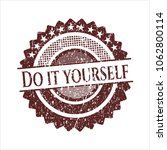 red do it yourself distress... | Shutterstock .eps vector #1062800114