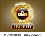 shiny badge with podium icon... | Shutterstock .eps vector #1062800204