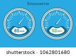 set of white speedometers for... | Shutterstock .eps vector #1062801680