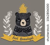 cute bear illustration.t shirt... | Shutterstock .eps vector #1062806000