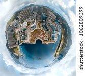 tiny planet effect of hong kong ... | Shutterstock . vector #1062809399