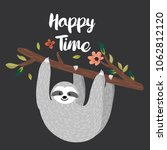 happy time design with funny... | Shutterstock .eps vector #1062812120