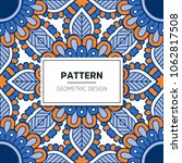 ethnic floral seamless pattern... | Shutterstock .eps vector #1062817508