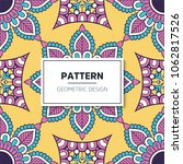 ethnic floral seamless pattern... | Shutterstock .eps vector #1062817526