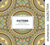 ethnic floral seamless pattern... | Shutterstock .eps vector #1062817544