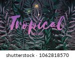 vector background with tropical ... | Shutterstock .eps vector #1062818570