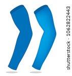 blue arm sleeve for template | Shutterstock .eps vector #1062822443
