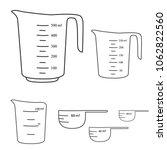 measuring cups. vector | Shutterstock .eps vector #1062822560