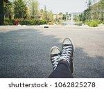 selfie of sneakers | Shutterstock . vector #1062825278