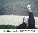 selfie of sneakers | Shutterstock . vector #1062825284