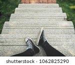 selfie of sneakers | Shutterstock . vector #1062825290