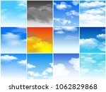 sky clouds vector pattern... | Shutterstock .eps vector #1062829868