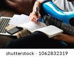 caucasian man in a songwriting... | Shutterstock . vector #1062832319