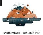 magical summer landscape  ... | Shutterstock .eps vector #1062834440