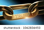 trust word as symbol in chrome... | Shutterstock . vector #1062836453