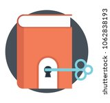 flat icon of key to knowledge. ... | Shutterstock .eps vector #1062838193