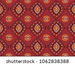 ikat geometric folklore... | Shutterstock .eps vector #1062838388