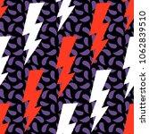flash  lightning bolt seamless... | Shutterstock .eps vector #1062839510