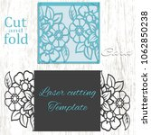 cut and fold card template.... | Shutterstock .eps vector #1062850238