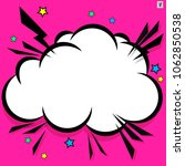 retro comic design cloud. flash ... | Shutterstock .eps vector #1062850538